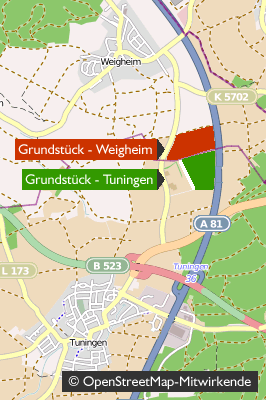 JVA / Gefängnis - Karte: Tuningen-Weigheim