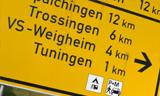 Foto: Wegweiser: Tuningen VS-Weigheim | Suchmaschine-Tuningen